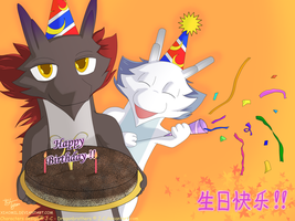 DragonBros B'day Card by xiaomil