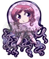 Chibi in a Jellyfish Suit by kuroitenshi13
