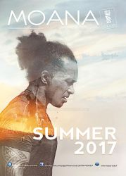 Moana club flyer Summer 2017 double exposure by Sweetlylou