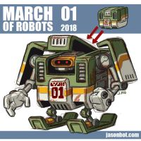 March Of Robots 2018 01 by jasonhohoho