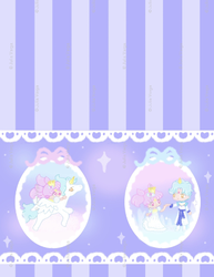 Chibi-Usa and Helios Sweet Lolita Print by milky-tales