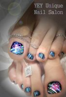 magazine nail by YEYUniqueNail