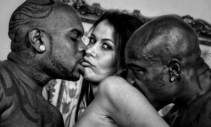 Interracial Threesome 643565 by Dramatic-BW