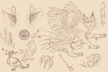 Sketch Page by MischievousRaven