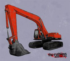 The Excavator of Forest Death by the-ruthless