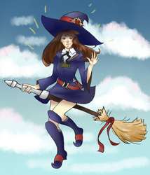 Commission: Artmunnn (Akko) by NotedDreams