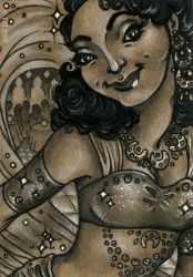 Golden Age, Silver Screen ACEO by sphinxmuse
