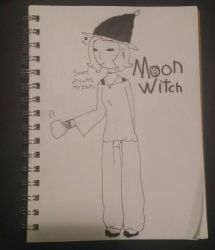 Moon witch (Witchtober day 18) by Glass-Clouds