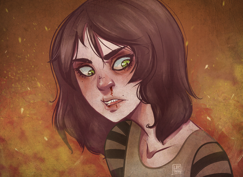 Alice in flames (fire v.) by ladypumpkinseed
