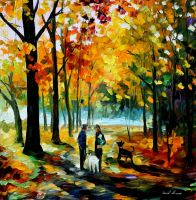 Couples by Leonid Afremov by Leonidafremov