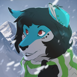 Comm - Snowy mountain by DarkyDD