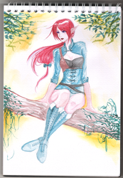 Yvonna watercolor12 by jinh-yuhn