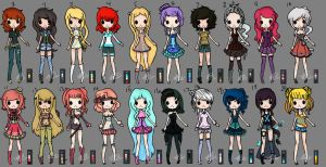 100 Adopts Part 3 (OPEN) Mixed Prices by Musicallychalanged