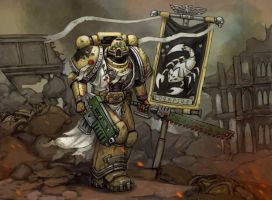Commission - Ordo Scorpius Space Marine by FonteArt