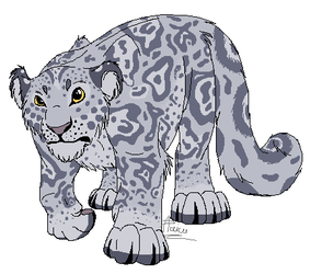 Snow Leopard by RogueLiger