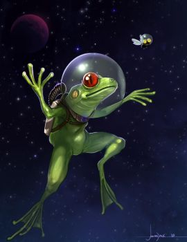 Space Frog by Josiahj