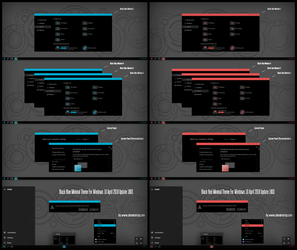 Black Blue and Red Minimal Theme Win10 April 1803 by Cleodesktop