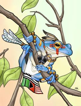 Kachina Frog by ursulav