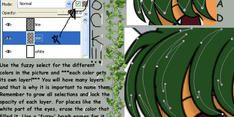 Cell AND Soft shade in GIMP by pheona
