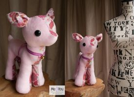 Pink Deer Plush by meplushyou
