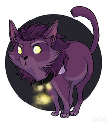 Purple kitty form by AddictionHalfWay