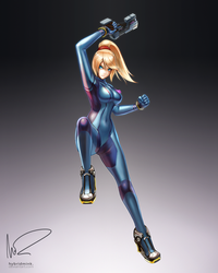 Zero Suit Samus by hybridmink