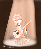 Jul 24th: While My Guitar Gently Weeps by pro-mole
