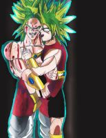 Broly and Kale by SuperSaiyanI9000