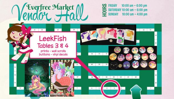 Going to Everfree Northwest 2016! Tables 3 and 4 by LeekFish