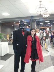 Business Vader and Red (RWBY) at SCEE 2014 by xayoz77