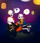 Pap And Outertale! sans  [ART TRADE] by SmasherlovesBunny500