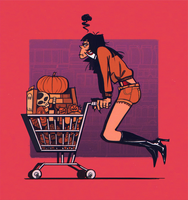 Vampirella's Halloween Shopping by TR-B