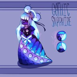 Gothic Sapphire || Surprise Fusion Adopt by KryingKraken