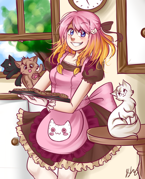 Kuu and Kitties by PastelPyon