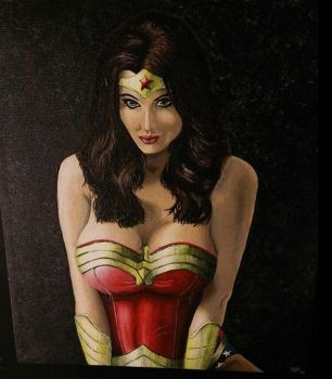 Wonder Woman Painting by Heather-Ferris