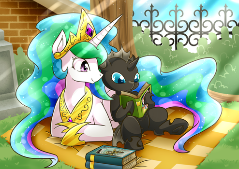 [Changeling Book Side Art] Celestia's Dream by vavacung