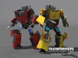 Sideswipe Sunstreaker NGSMOOV by rando3d