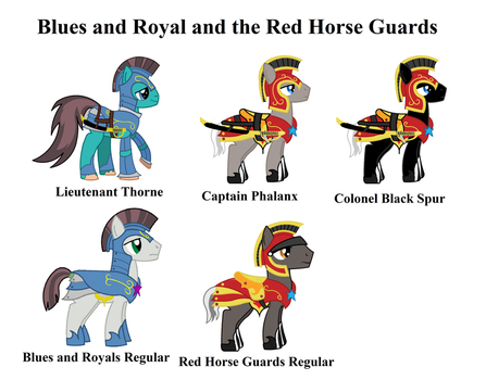 Blue's and Red cavalry guard by Vector-Brony