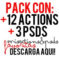pack with my favourite actions and PSD by wakeuptothebluesky