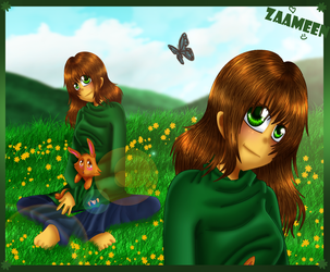 me and my rabbit by zaameen