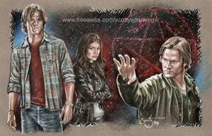 Sam Winchester and Ruby by scotty309