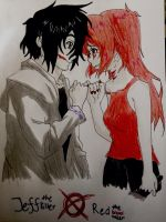Request: Jeff the killer X Red the blood taker by anime-freak-2000