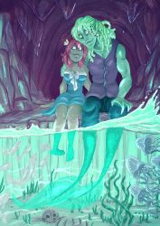 Behind a Waterfall by Animeshen