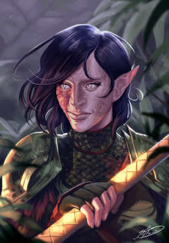 Danyssa Lavellan Commission by SigneRJArts