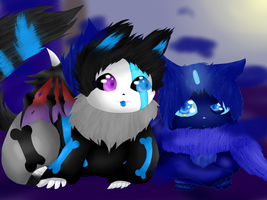 Storm and Dens in wolf form by ACGamer2