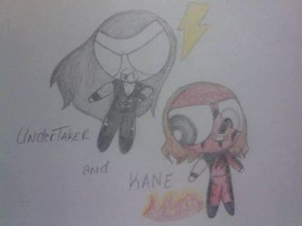Undertaker and Kane Powerpuff Vampires by Jyoumifan1