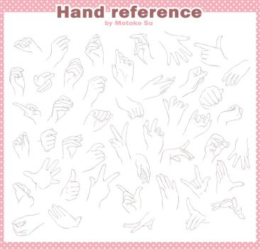 Hand draw reference FREE by Motoko-Su