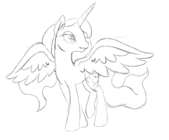 Luna Sketch by TheShadowStone