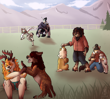 [Prompt] Nikyak Paddywack - Corral Shenanigans by AlleyWolf
