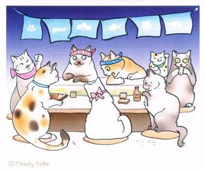 Sushicats birthday card by Reptangle